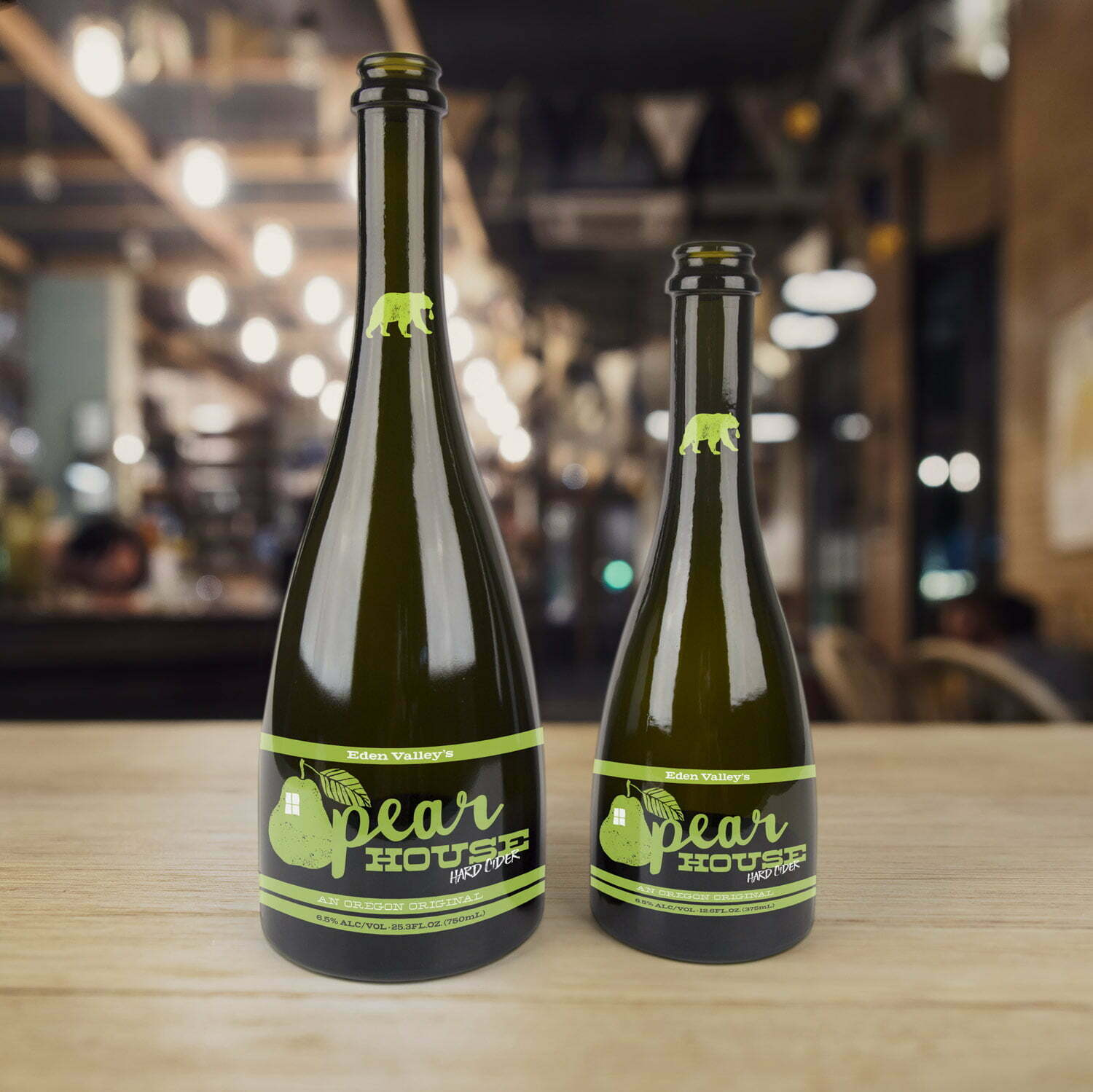 Pear House Cider Bottles