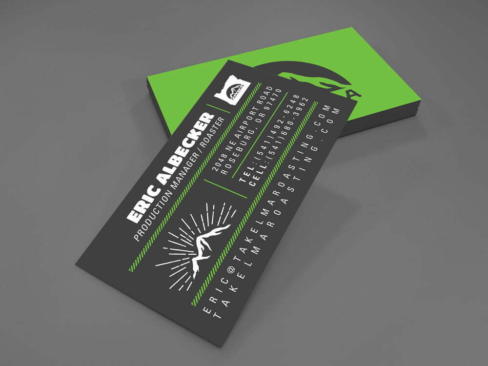 Takelma Business Cards