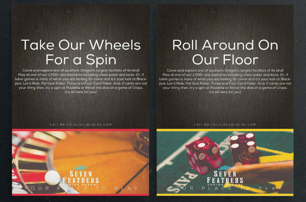 Seven Feathers Table Game Ads