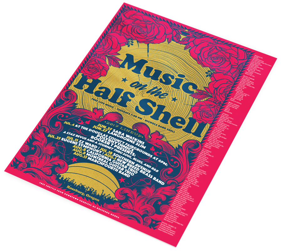 Music on the Half Shell Poster