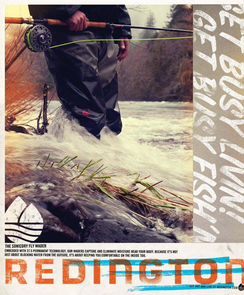 Ad for the Sonicdry Fly Wader